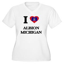 I love Albion Michigan Plus Size T-Shirt