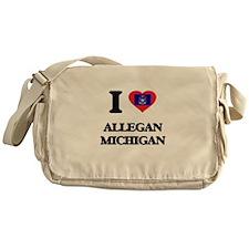 I love Allegan Michigan Messenger Bag