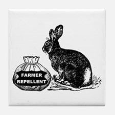 Farmer Repellent --  Tile Coaster