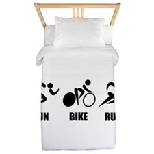 Duathlon Run Bike Run Twin Duvet