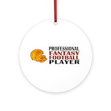 Fantasy Football Pro Ornament (Round)