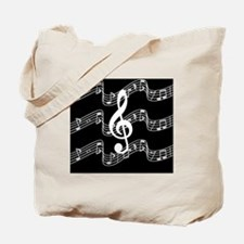 Music Staffs with Treble Clef Tote Bag
