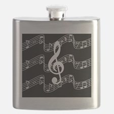 Music Staffs with Treble Clef Flask