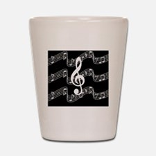 Music Staffs with Treble Clef Shot Glass