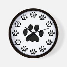 Black Paw Paw Clock Wall Clock