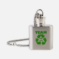 TeamRecycle Bib.png Flask Necklace