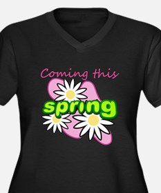Coming this spring 2 Women's Plus Size V-Neck Dark