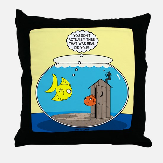 Fishbowl Outhouse Aerator Throw Pillow