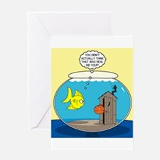 Fishbowl Outhouse Aerator Greeting Card