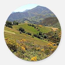 Mountains near O'Cebreiro, El Cam Round Car Magnet