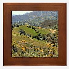 Mountains near O'Cebreiro, El Camino,  Framed Tile