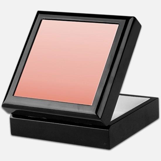 ombre peach pink Keepsake Box