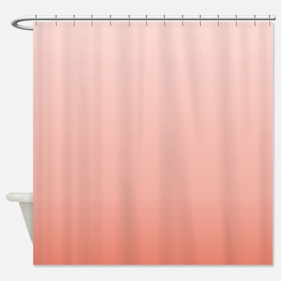 ombre peach pink Shower Curtain