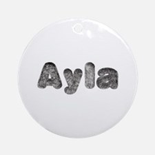 Ayla Wolf Round Ornament