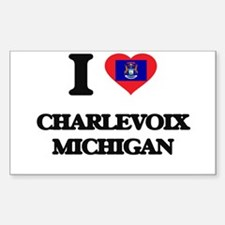I love Charlevoix Michigan Decal
