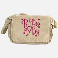 BiteMePink 10x10.png Messenger Bag