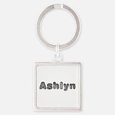 Ashlyn Wolf Square Keychain
