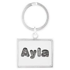 Ayla Wolf Landscape Keychain