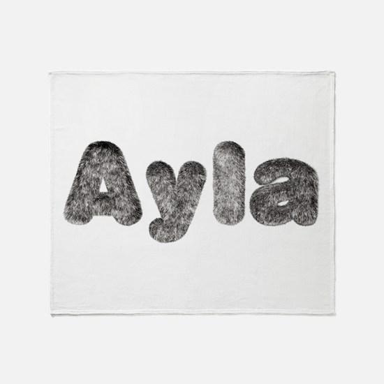 Ayla Wolf Throw Blanket