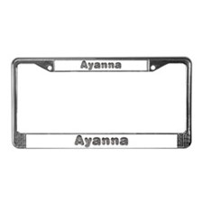 Ayanna Wolf License Plate Frame