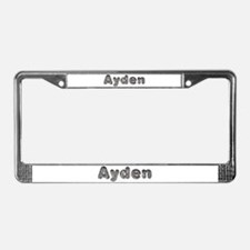 Ayden Wolf License Plate Frame