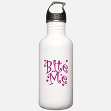 BiteMePink 10x10.png Sports Water Bottle
