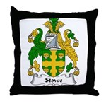 Stowe Family Crest Throw Pillow