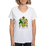 Stowe Family Crest Women's V-Neck T-Shirt