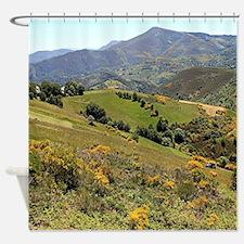 Mountains near O'Cebreiro, El Camin Shower Curtain