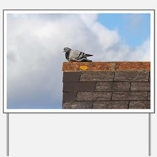 Pigeon on a Roof Yard Sign