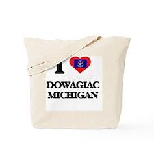 I love Dowagiac Michigan Tote Bag