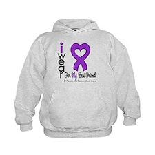 I Wear Purple Best Friend Hoodie