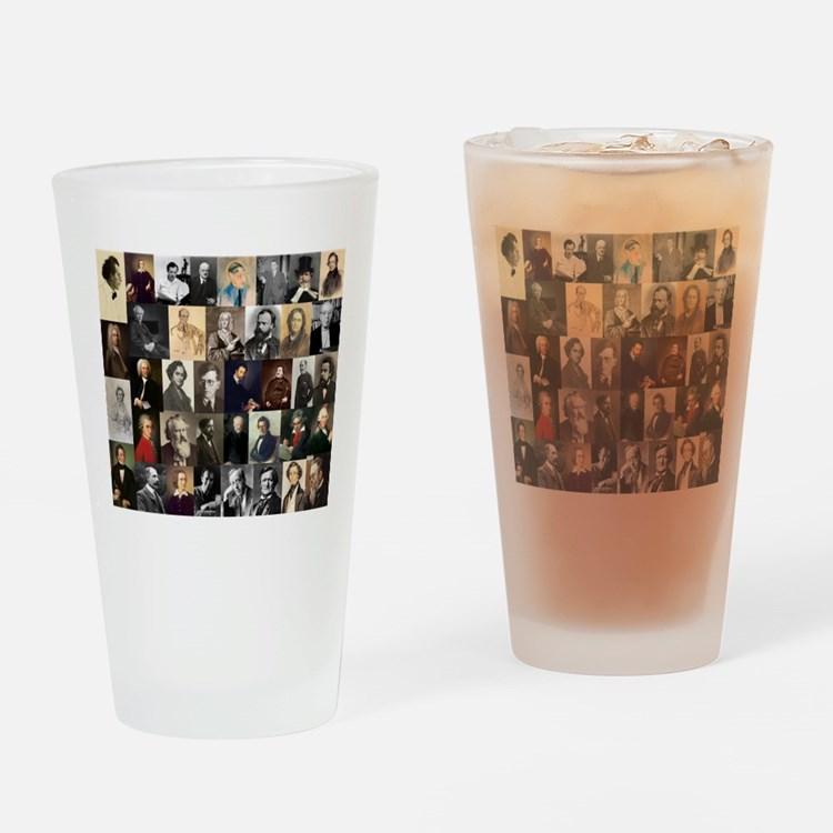 Composers Collage Drinking Glass