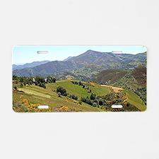 Mountains near O'Cebreiro, Aluminum License Plate