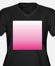ombre hot pink Plus Size T-Shirt