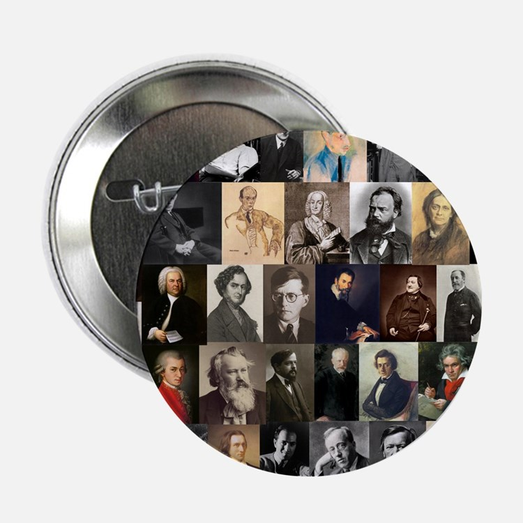 """Composers Collage 2.25"""" Button (10 pack)"""