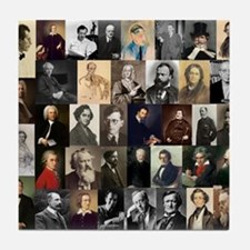Composers Collage Tile Coaster