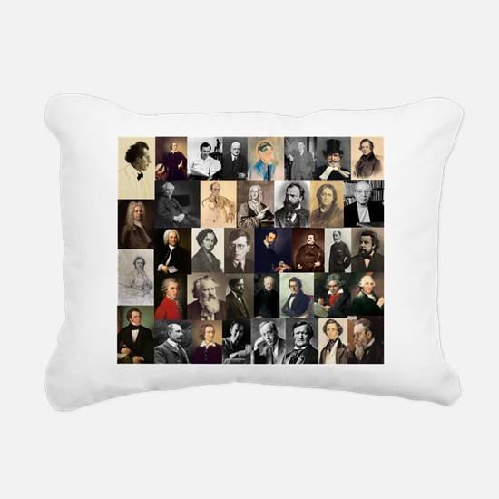 Composers Collage Rectangular Canvas Pillow