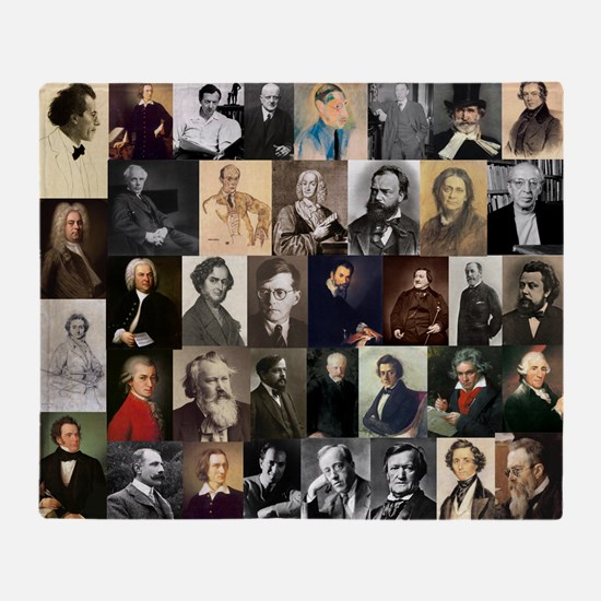 Composers Collage Throw Blanket