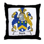 Stork Family Crest Throw Pillow
