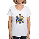 Stork Family Crest Women's V-Neck T-Shirt