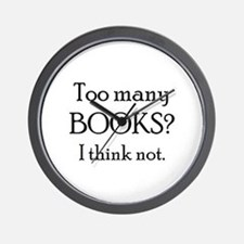 too many books Wall Clock