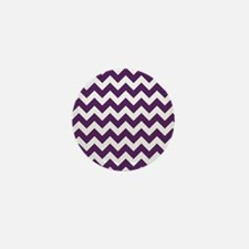 Purple Power Chevron Stripes Mini Button