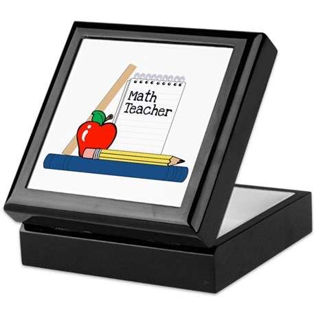 Math Teacher (Notebook) Keepsake Box