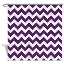 Purple Power Chevron Stripes Shower Curtain