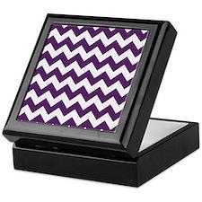Purple Power Chevron Stripes Keepsake Box