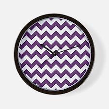 Purple Power Chevron Stripes Wall Clock