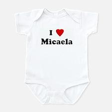 I Love Micaela Infant Bodysuit