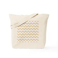 Sandy Tan Chevron Pattern Tote Bag