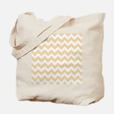 Sandy Tan Chevron Pattern Tote Bag